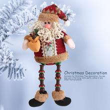 Cute Santa Claus Snow Man Reindeer Doll Christmas Decoration Xmas Tree Hanging Ornaments Pendant Best Gift Hot(China)