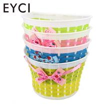 EYCI Outdoor Bicycle Bags Panniers Bowknot Front Basket Bicycle Cycle Shopping Stabilizers Basket lovely Gift(China)