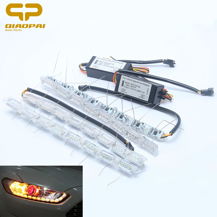12V 10W car Telescopic stretchable double color crystal lamp with tear running water function 16LED decoration light 4014 1 set <br>