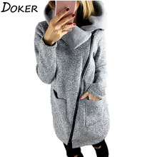 2017 Autumn Winter Women Sweaters And Cardigan Turn-down Collar Oblique Zip up Knitted Coat Sweater Outwear Plus Size 5XL(China)