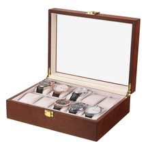 Display Storage Box Case Watch Box 10 Grid Insert Slots Jewelry Watches Collection Watch Box Jewelry Decoration Case