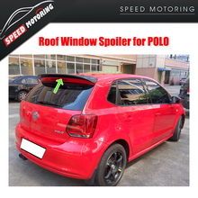 For Polo Carbon Fiber Rear Roof Wing Spoiler for VW Polo 2011 - 2015 Tail Roof Window Lip Wing Spoiler