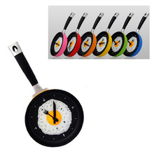 New Kids Wall CLock Creative Omelette Fry Pan Kitchen Fried Egg MINI Design Children Wall Clocks Kitchen Clock