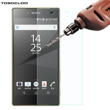 TOBOCLOO Screen Protector HD Tempered Glass for Sony Xperia Z1 Z2 Z3 Z4 Z5 Compact M2 M4 M5 Aqua C3 C4 Case Film Premium(China)