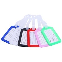 10Pcs Travel Luggage Tags Address Cards Bag Suitcase ID Airlines Baggage Labels(China)