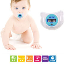 1 Pc Newborn Infants LED Pacifier Thermometer Mouth Nipple Thermometer Temperature Safe Test Baby Healthy Care