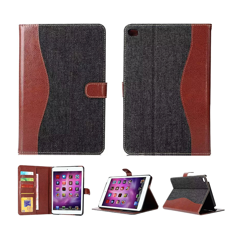 High Quality Slim patchwork denim Leather Case for iPad Mini 1/2, Smart Cover for Apple iPad Mini 2 mini 3 with Retina Display<br><br>Aliexpress