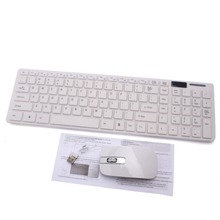 Wireless 2.4G White PC Keyboard +Mouse Keypad Film Kit Set For DESKTOP PC Laptop Free Shipping