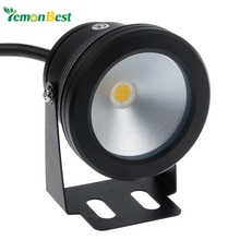 Lemonbest Waterproof IP68 Led Underwater Light 10W 12v Cool White Warm White Fountain Pool Lamp Black Cover Body For Outdoor(China)