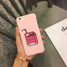 GIMFUN Korea Pink Peach  Phone Case for Iphone 6 6s 6plus 5 5s 7  7plus 8 8p Cartoon Hard Plastic Back Cover Case Freeshipping