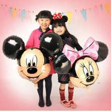 Free shipping aluminum balloons Minnie Mickey head balloon decorations children's toys wholesale