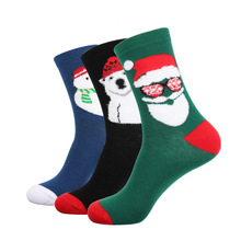 2018 Men Winter Socks 3D Fuzzy Lovely Hip Hop Christmas Socks Cotton Cute Santa Claus Xmas Socks for Christmas Gifts wholesale