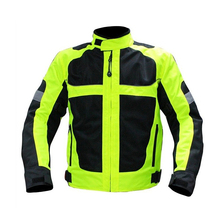 Clear Stock Now!Men's Motorcycle Jacket Motocross Racing Reflective Safety Coat Sportswear Protective Gear - Fluorescent Green