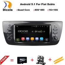 6.2 inchQuad Core Android 5.1 Car DVD Player Fiat DOBLO 2010 2011 2012 2013 2014 Radio Audio Mirror Link 16GB Flash GPS Map - Dicola Store store