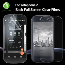 FEIHOO ELE For Yotaphone 2 Front Tempered Glass Screen Protector Front Or Rear TPU Soft Film Sold Separately For Yotaphone 2(China)