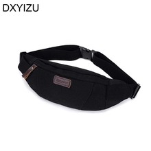 New waist packs canvas waist bag protable small capacity fanny pack men shoulder bag man chest bags for women 2017 top quality