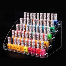 Wholesale Nail Polish Rack Cosmetics Display Shelf Acrylic Makeup Organizer Lipstick Frame 5 layers Nail Polish Display Box