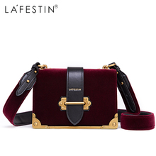 LAFESTIN Women Shoulder Bag Velvet Designer Crossbody Brands Women Luxy Bag bolsa Female Luxy(China)