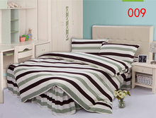 Twin Full Queen Green Polyester Bed Skirt 4Pcs Bedding Set Bed Dust Ruffle Bedclothes Sets Duvet Cover Quilt Cover Pillowcase(China)