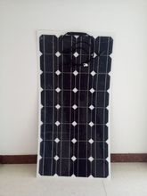 More convenient for customers to use semi-flexible solar panel, 100w, the back of the panel with adhesive glue directly stick(China)