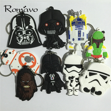 Classic Star Wars Awakens Keychain BB8 Stormtrooper Darth Vader Chewbacca PVC Pendant Keychain Action Figure Toys Keyring chavei