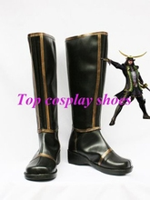 Freeshipping Samurai Warriors 3 Masamune Date Cosplay Boots shoes #5574 hand made Custom made for Halloween Christmas