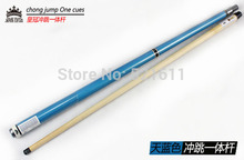 2015 new design chong Punch Jump 3/4 cues Blue Billiards Pool Jump and Break cues stick with 13mm bakelite tip Uni-Loc Joint