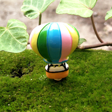 1 Pcs Mini Resin Fire Balloon DIY Craft Decor Landscaping Figurines Accessories For Home Garden Flower Pot(China)