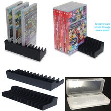 2pcs/lot Game Card Box Storage Stand CD Disk Holder Support For Nintendo Nintend Switch NS Hold 24pcs CD Disks+Card Storage Case