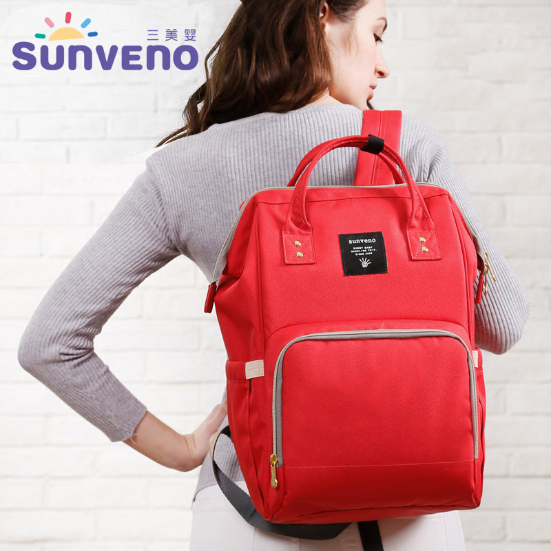 Sunveno Diaper Bags Baby Backpack For Mom Waterproof Bags 27*21*42cm Multi-functional Nappy Maternity Mummy Bag Bebes Organizer <br>