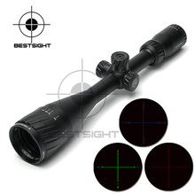 Hawke 4-16x50 AOIR Tactical Riflescope Red &Green&Blue Illuminated Reticle Fiber Optic Sight Rifles Scope with Free Mount