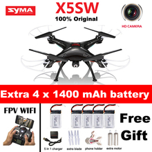 SYMA X5SW X5SW-1 WIFI RC Drone Quadcopter with FPV Camera Headless 6-Axis Real Time RC Helicopter Quad copter Toys vs x5c(China)