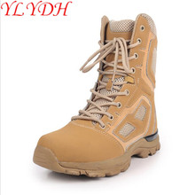 Ultra Light Combat Boots SWAT Desert Fox Light Combat Boots Shock High-altitude Outdoor Tactical Boots Breathable(China)