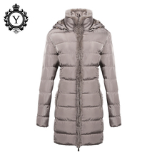 COUTUDI Women Clothing Solid Jacket Winter Female 2016 China Stylish Long Khaki Parka Coats Warm Waterproof Women's Winter Coat(China)