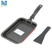 Smoke-free Carbon Steel Fry Pan Non Stick Skillet Omelet Pan Rectangular Cooking Pan For Gas&Induction