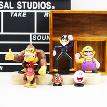 6 pcs/lot hot Baby toys Super Mario Bros Figures Donkey Kong Waluigi Wario Ghost Goomba Toy Kids Action Figure Toys Robot