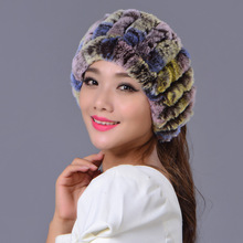Rex Rabbit Fur Headbands for Women Can be Used As Scarf and Collar Winter Ear Protect Thick Warm Real Fur Headwear & Scarves