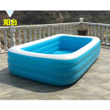 Intime Family Inflatable Pool Large size 196cm Kids Summer Swimming Pool Ocean Ball Pool(China)