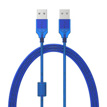 New USB2.0 Extension Cable Male to Male USB Adapter Transparent Blue Anti-interference Dual Shielding 0.3M 0.5M 1.5M 3M 5M