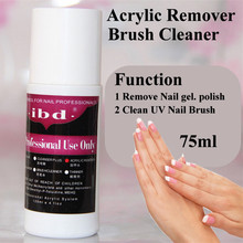 2016 Hot Sale IBD 75ml UV Nail Gel Polish Acrylic Remover and Brush Cleaner Liquid For Nail Art Powder Nail Tips