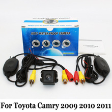 Auto Rearview Camera For Toyota Camry 2009 2010 2011 / RCA AUX Wire Or Wireless Camera / HD Night Vision Car Parking Camera(China)