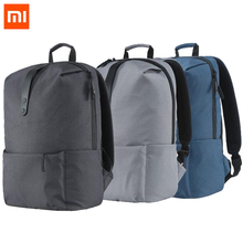 Xiaomi Men Male Canvas College School Student Backpack Casual Rucksacks Travel Bag camping hiking travel backpack bag Black Blue(China)