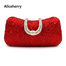 Aliceherry Gold Color Italian Design Women Hand Bag Hot Selling Rhinestone Beading Set for Wedding Party Clutch Bag High Quality