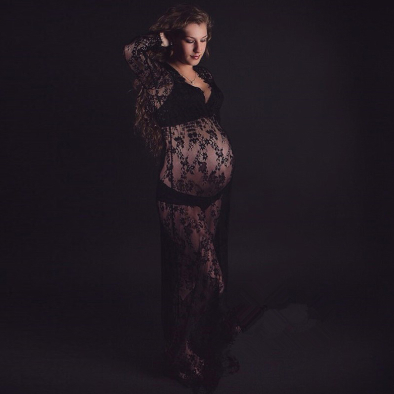 pregnant lace dress photography props (4)
