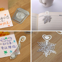 Kawaii Silver Book Markers Cute Paper Clips Novelty Metal Bookmarks For Books Kids Gift School Supplies Free shipping 729