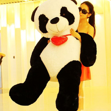 160cm Jumbo Plush Soft Animal Panda Toy Stuffed 63'' Cartoon Heart Panda Doll Great Baby Gift