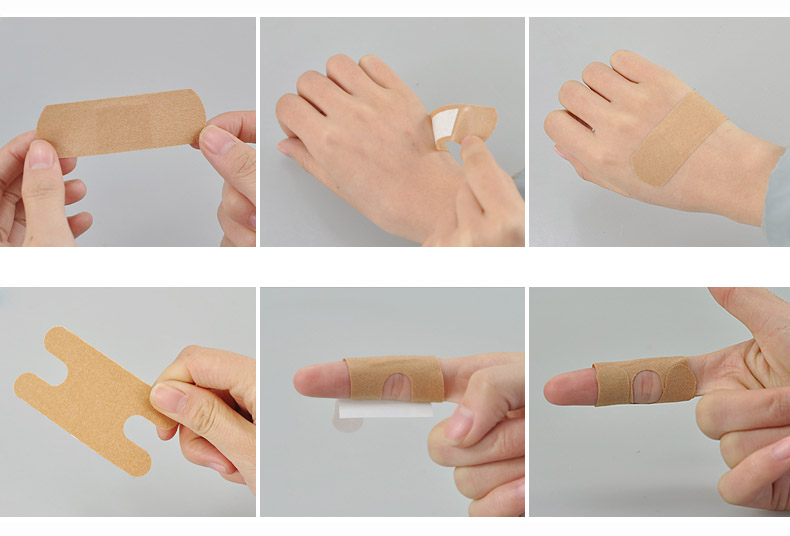 100PcsBox Medical Band Aid For Fingertip Joints Large area Breathable Assorted 5 Sizes Band Aid Bandages Set First aid supplies (13)