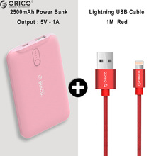 ORICO 2500mAh Portable charger Power Bank Mobile Phone External Backup Battery Charger Led Single USB Powerbank for Smart Phones