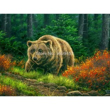 DIY Full Diamond Embroidery Animals Forest grizzly bear home decoration wall decor diamond mosaic Handicraft kit Handmade Gifts