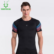 Men Compression Shirt Running Run Fitness Exercise Training Sports Gym Soccer Football Shirts Tights Jerseys(China)